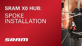 How to install spoke on SRAM X0 Hub