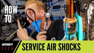 Rear air shock basic oil service