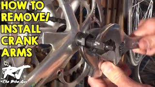 How to remove a crank