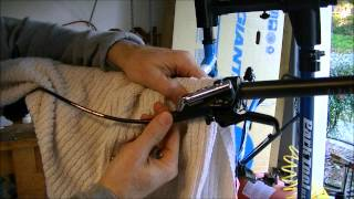 How to shorten shimano brake hose without bleeding